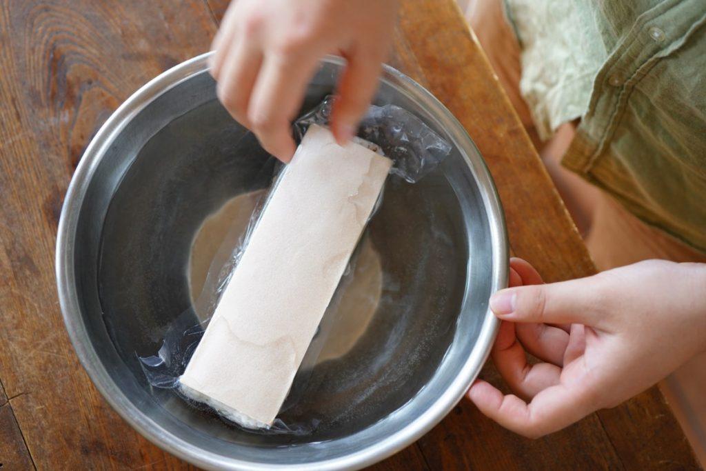 ぬるま湯 解凍方法