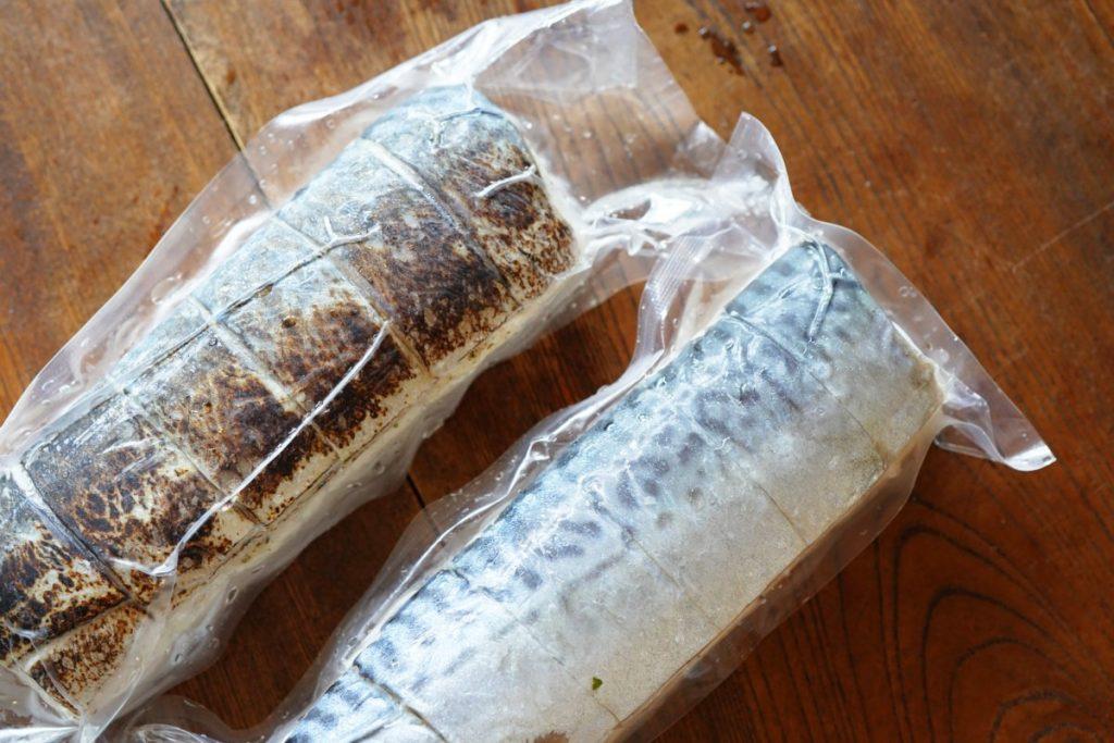鯖寿司2種類 解凍前