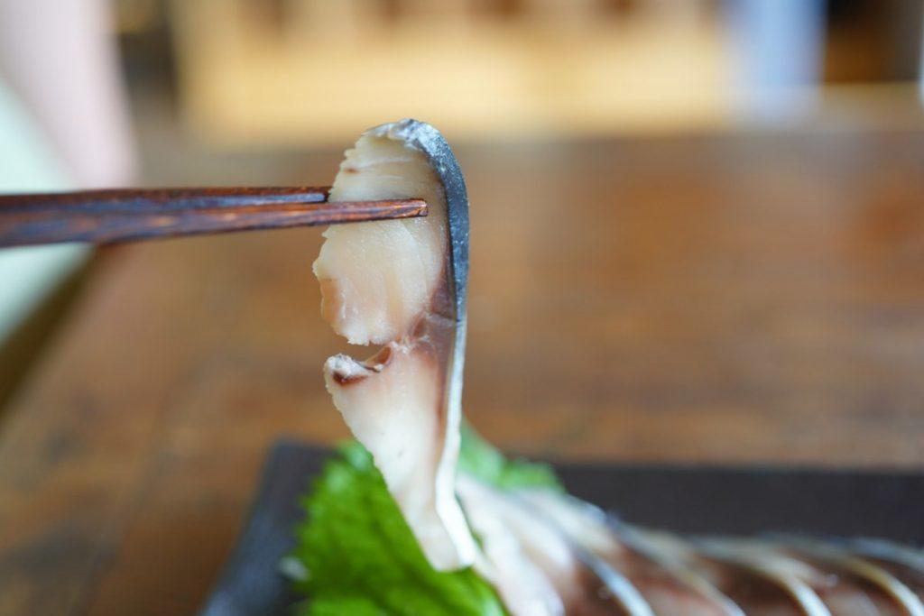 しめ鯖 箸上げ