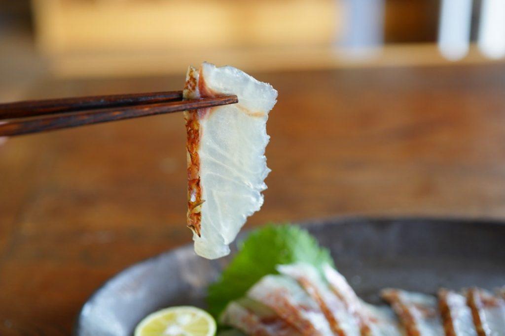 鯛 炙り冷燻 箸上げ