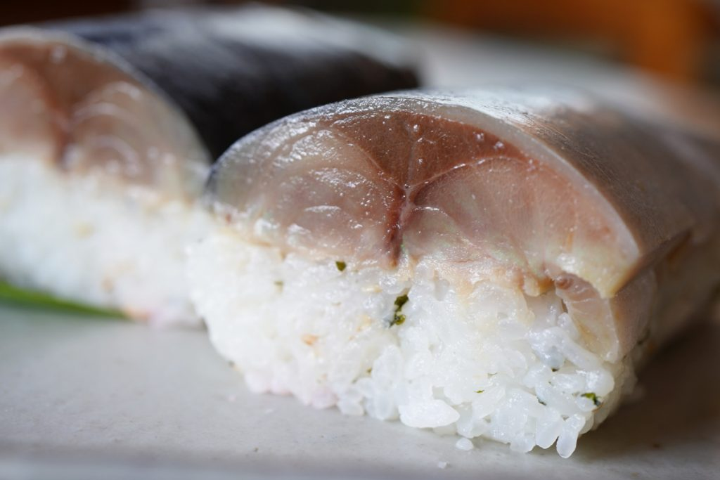 鯖寿司 断面