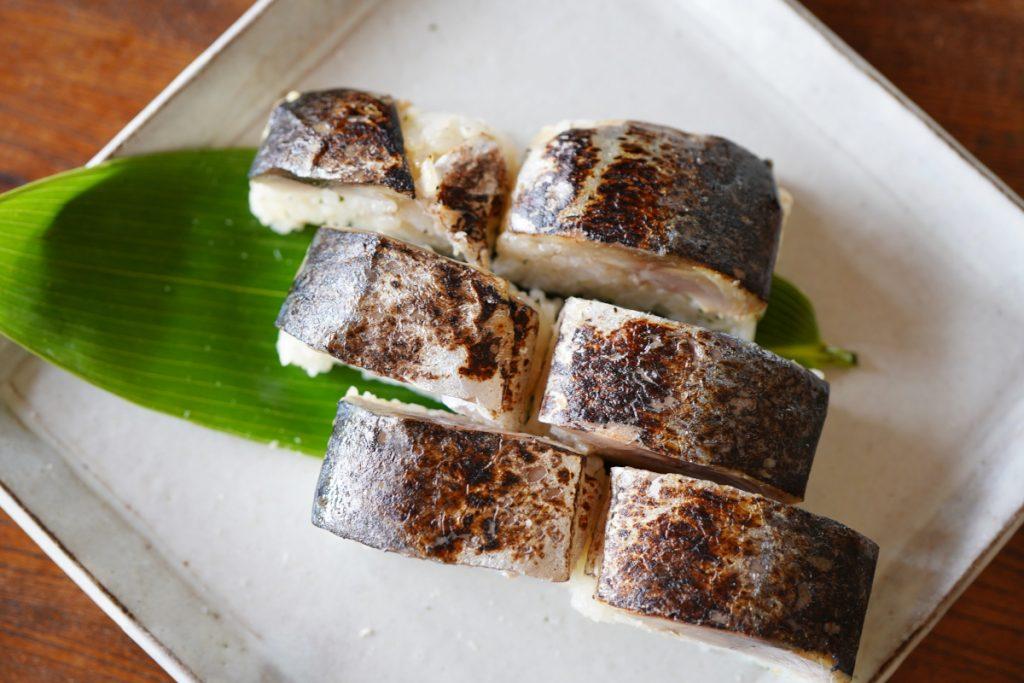 炙り鯖寿司 盛り付け
